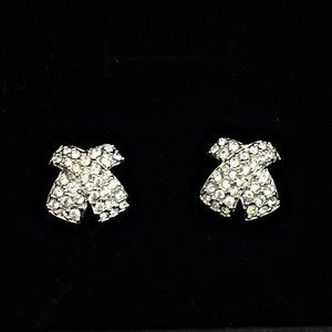 "Swarovski Crystal Pave Set ""X"" Motif Earrings"